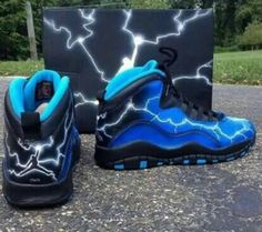 Lightning custom jordans