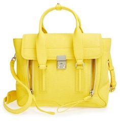 3.1 Phillip Lim 'Medium Pashli' Leather Satchel - Yellow