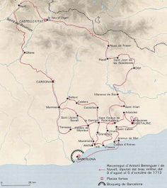 Guerra a Ultranza. Barcelona 1713-1714: Recorrido de la expedición del Brazo Militar