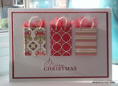 Christmas Card Greetings: 52 {Christmas} Card Throwdown: September Theme Honors (no info at Christmas small little bags can be found or from miniature catalogues; card easy to create) Homemade Christmas Cards, Merry Christmas Card, Christmas Cards To Make, Xmas Cards, Homemade Cards, Handmade Christmas, Holiday Cards, Christmas Crafts, Christmas Birthday