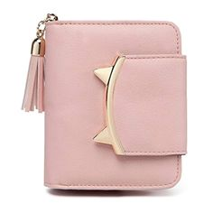 cute cat mini purse - Reinhar Woman Cute Cat Mini Wallet Design Coin Purse leather Wrist Strap Black ** Find out more about the great product at the image link. (This is an affiliate link) Leather Tassel, Leather Purses, Leather Wallet, Pu Leather, Cat Wallet, Clutch Wallet, Wallets For Girls, Women's Wristlets, Purses