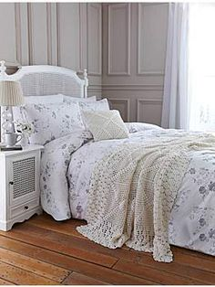 Shabby Chic Spring Grey Toile bed linen