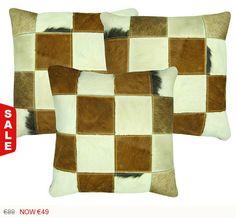 Cojín Piel de Vaca Cuero Natural funda y relleno incluido Sale On, Etsy Seller, The Selection, Etsy Shop, Throw Pillows, Quilts, Blanket, Shopping, Relleno