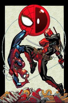 #Spiderman #Fan #Art. (Spider-Man/Deadpool #1 Cover) By: Ed McGuinness. (THE * 5 * STÅR * ÅWARD * OF: * AW YEAH, IT'S MAJOR ÅWESOMENESS!!!™)[THANK Ü 4 PINNING<·><]<©>ÅÅÅ+(OB4E)