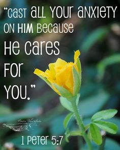 1 Peter 5:7. He cares for you...