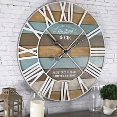 FirsTime & Co. 24 in. Maritime Distressed Teal Planks Wall Clock 00257 - The Home Depot : FirsTime & Co. Maritime Distressed Teal Planks Wall - The Home Depot Beach Cottage Style, Beach Cottage Decor, Coastal Style, Coastal Decor, Rustic Beach Decor, Coastal Living, Coastal Furniture, Beach House Diy Decor, Beach Furniture