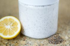 Meyer Lemon Chia Pudding 12 oz full-fat coconut milk 4 Tbsp chia seeds Juice of 1/2 Meyer lemon (other lemon will suffice) 1/8 tsp lemon zest