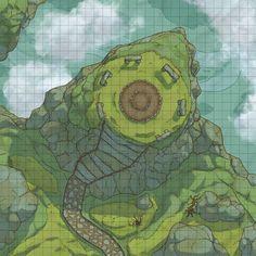 [Battlemap] [Rock] A Hanging Rock : FantasyMaps Dnd World Map, Fantasy World Map, Fantasy City, Dungeons And Dragons Homebrew, D&d Dungeons And Dragons, Dark Souls, Forest Map, Rpg Map, Adventure Map