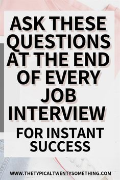 The best questions to ask during a job interview - 12 questions here! Questions to ask after an interview, Questions to ask an interview, how to interview for a job, job interview tips for women, job Management Interview Questions, Interview Questions To Ask, Job Interview Preparation, Interview Skills, Fun Questions To Ask, Job Interview Tips, Job Interviews, Management Tips, Preparing For An Interview