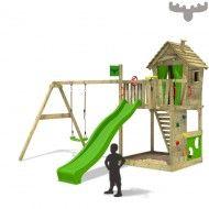 Spielturm mit Schaukel HappyHome Hot XXL, Kinderspielgerät, FATMOOSE