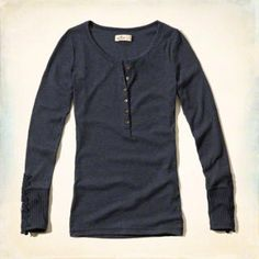 Long Sleeve Lace Henley