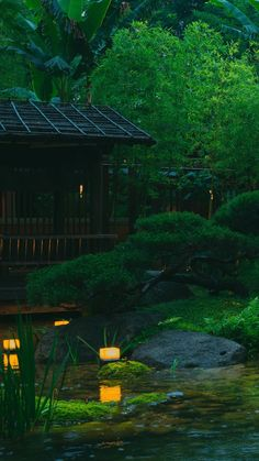 ...Zen > WabiSabi < Zen... Night Garden, Bonsai Plants, Cabins In The Woods, Ikebana, Be Perfect, Northern Lights, Japan, Travel, Blog