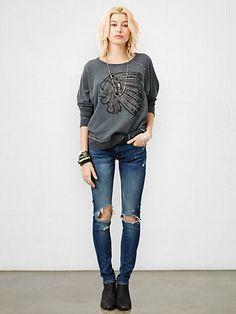 Skull Appliqué Sweatshirt - T-Shirts Tees & Tops - Ralph Lauren UK - £55
