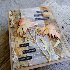 Tim Holtz Flower Garden Cards, Flower Cards, Z Craft, Stampers Anonymous, Floral Card, Die Cut Cards, Scrapbooking Ideas, Art Journaling, Mini Albums