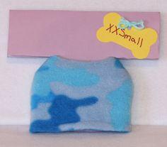 Puppy/Dog Jacket - XXSmall - Blue Camo - Fleece by PatienceWayShop on Etsy