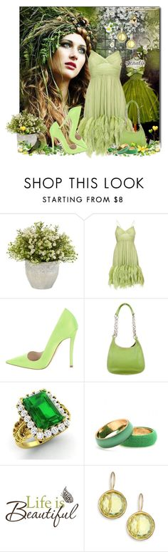 """""""Life Is So Beautiful!"""" by jewelsinthecrown ❤ liked on Polyvore featuring Poesia, Nearly Natural, Christian Dior, Prada, Diamondere, Dries Van Noten, Brewster Home Fashions and Ippolita"""