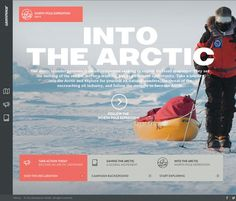 This is a stunning web design by Greenpeace. Great narration, music and video. Flat Web Design, Web Design Trends, Web Design Inspiration, Design Websites, Video Websites, Amazing Websites, North Pole Expedition, Interactive Web Design, Save The Arctic