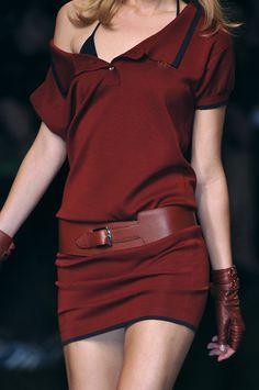Vestido tipo La Coste...totalmente abierto de arriba...nica! solo déjalo caer...;) #oxblood #Killer