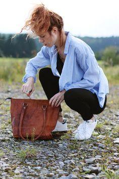 """""""Therese"""" Henkeltasche Handtasche Gusti Leder Tasche Nature Shopper braun"""