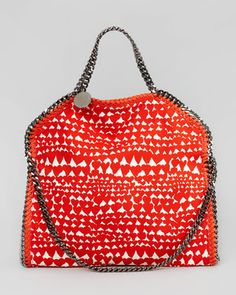 Stella McCartney Falabella Fold-Over Shoulder Bag, Flame - Bergdorf Goodman