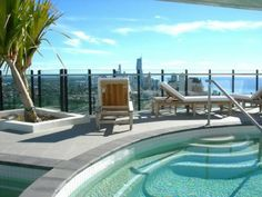 Rooftop with Swimming Pool Design Ideas Garden Swimming Pool, Swimming Pool Designs, Swimming Pools, House Pools, Pool Houses, Rooftop, Design Ideas, Outdoor Decor, Home Decor