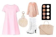 Furry Pink Classy Set by stylekittybeauty on Polyvore featuring polyvore, moda, style, Maiocci, storets, Givenchy, NYX, fashion and clothing