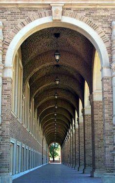 Corridor of the Chemistry Building at Texas Tech University (Lubbock)