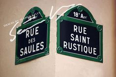 Digital Download: Parisienne Street Signs  PRINTABLE ART