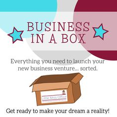 Business In A Box - Everything you need to start marketing your business Up And Running, Little Miss, Business Ideas, Everything, Dreaming Of You, No Response, Product Launch, How To Get, Marketing