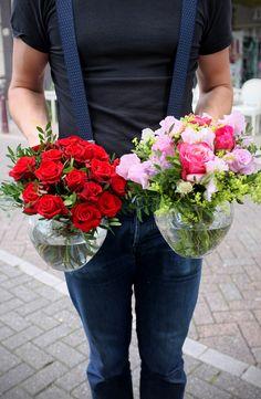 Andaz Hotel Small vases, flowers, roses, Amsterdam flowers, florist, A.P Bloem