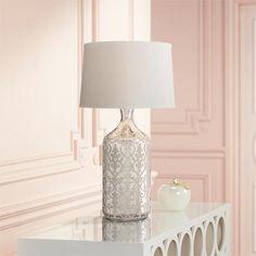 Patty Mercury Glass Bottle Table Lamp
