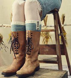 Tante er fortsatt GAL!!: Når du ikkje trenger HELE sokker.....Supre Strikke...