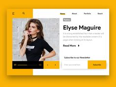 Web Profile Design Idea yellow adobe xd user experience photoshop black web design ux ui user interface