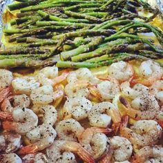 Baked Citrus Shrimp & Asparagus
