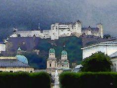'Salzburger Ansicht' von Dirk h. Wendt bei artflakes.com als Poster oder Kunstdruck $18.03