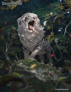 Ideas For Illustration Art Fantasy Friends Big Cats Art, Furry Art, Cat Art, Mythical Creatures Art, Mythological Creatures, Creature Drawings, Animal Drawings, Wolf Drawings, Fantasy Beasts