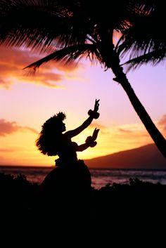 Spirit of Aloha on the beach at sunset