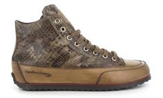 Candice Cooper, taupe python print sneaker. Candice Cooper, Python Print, Spikes, Hiking Boots, Taupe, Slippers, Sneakers, Fashion, Cnd Nails