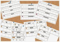 Maternelle et Direction de yann: Série de cartes style Nathan sur le corps