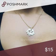 Lotus Necklace 🌸 Gold plated lotus necklace Jewelry Necklaces