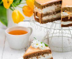 TORT Z KREMEM CZEKOLADOWYM I WIŚNIAMI - przepisy z myTaste Tiramisu, Ethnic Recipes, Tiramisu Cake