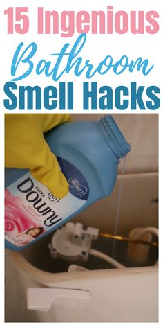 Bathroom smell hacks and tips. #smellhacks #bathroomsmellhacks #cleaninghacks #householdhacks #cleaningtips #householdtips
