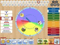 Un orologio/calendario che supporta genitori, insegnanti e terapisti nell'affrontare con bambini con disabilità cognitive il concetto di tempo: le ore, i giorni della settimana, i mesi, le stagioni e il tempo atmosferico. Con la possibilità di inserire una serie di pittogrami o di immagini personalizzate.