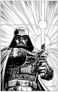 70sscifiart:  Darth Vader, by Walt Simonson