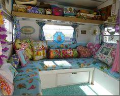 Déco intérieure d'une caravane