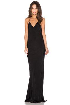 TITANIA INGLIS x REVOLVE Long Plunge Dress in Black   REVOLVE