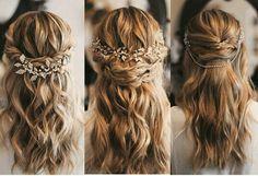 Wedding Hair And Makeup, Wedding Beauty, Bridal Hair, Hair Looks, Pretty Hairstyles, Formal Hairstyles, Bride Hairstyles, Bridesmaid Hair, Prom Hair