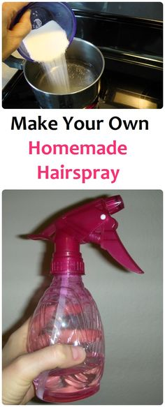 Make Your Own Homemade Hairspray