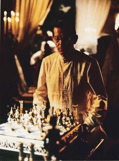 """Blade Runner - Tyrell """"Did you know that the chess game between Tyrell and Sebastian replicates the conclusion of a game between Adolf Anderssen and Lionel Kieseritzky, in London in 1851? It is known, because of it's brilliance, as 'The Immortal game'. Immortality is just what Roy Batty has got on his mind. Interestingly, when Tyrell makes a fatal error in the game, he loses his life."""""""
