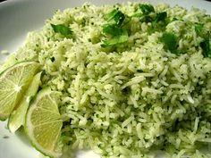 cilantro lime rice. looks yummy!